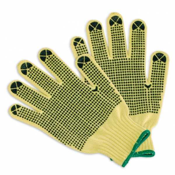 Cut Resistant Knit Gloves PVC Dots on 2 Sides