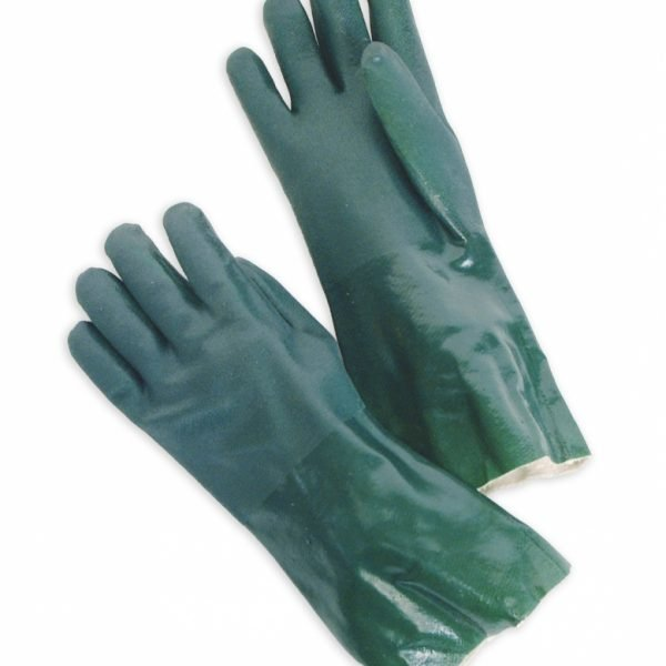 """Double Dipped PVC 14"""" Gauntlet, Jersey Lined, Sandy Finish"""