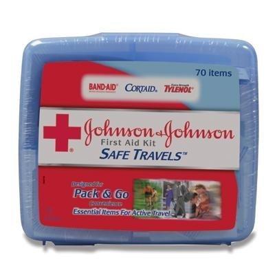Johnson & Johnson Safe Travels Travel First Aid Kit