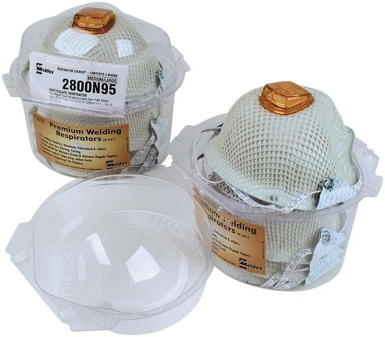 Moldex 2850 Respirator Locker With Premium 2800N95 Welding Respirator