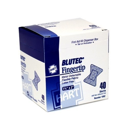 Blue Metal Detectable Adhesive Bandage - Fingertip