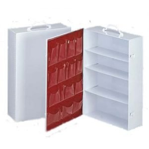 4-Shelf Metal Cabinet- Empty