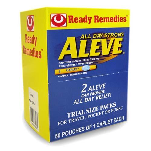 Aleve - 50 Pouches of 1 Caplet Each