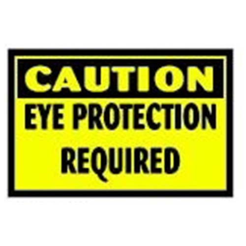 Caution: Eye Protection Required Workplace Safety Sign