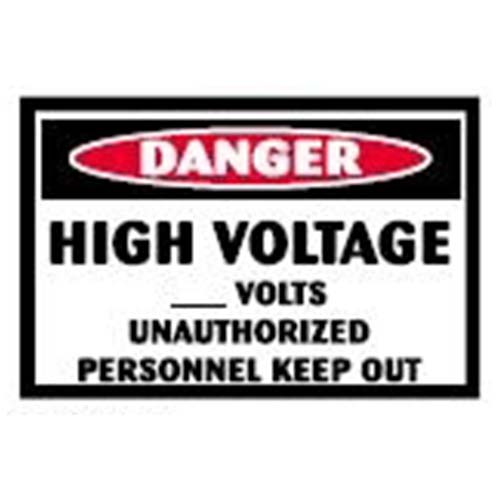 Danger: High Voltage Workplace Safety Sign