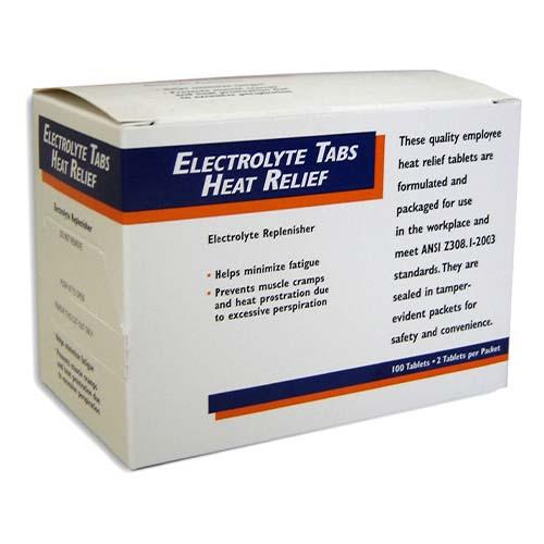 Electrolyte Tabs Heat Relief