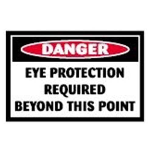 Eye Protection Required Beyond This Point Workplace Safety Sign