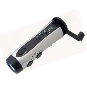 Flashlight - Hand Crank with AM/FM Radio and Emergency Siren