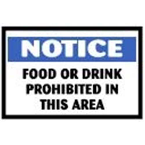 Food or Drink Prohibited In This Area Workplace Safety Sign
