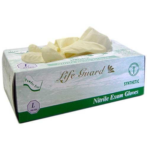 Life Guard Nitrile Medical Exam Gloves, Synthetic