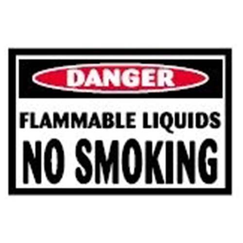 Flammable Liquids No Smoking Workplace Safety Sign