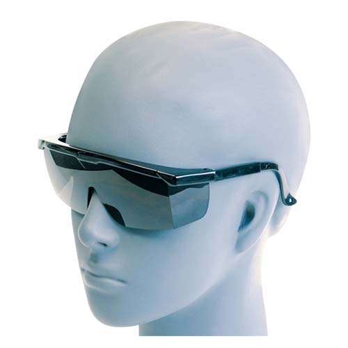 Protective Eyewear With Black Frame & Tinted Lenses